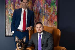 Attorneys Robert Boughter and Kenny Sinak and Ziggy