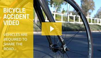 Bicycle Accident Video. Vehicles are required to share the road...