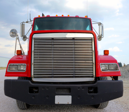 Front end of tractor-trailer